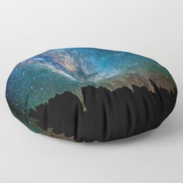 The Milky Way Mountains Floor Pillow