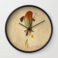 koi Wall Clocks featuring Mystic Koi by Fernando Vieira