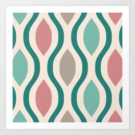 Pretty Ogee Pattern 349 Art Print
