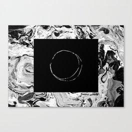Marble & Moon Canvas Print
