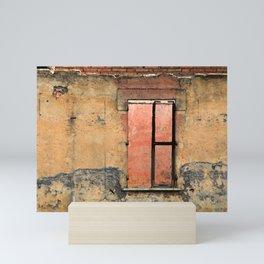 Ruin with Pink Window Mini Art Print