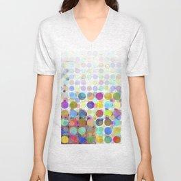 Colorful Dots No. 1 Unisex V-Neck