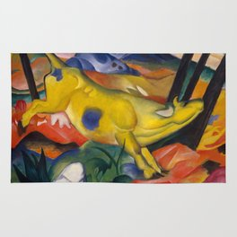 """Franz Marc """"Yellow cow"""" Rug"""