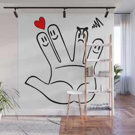 The fingers in love Wall Mural
