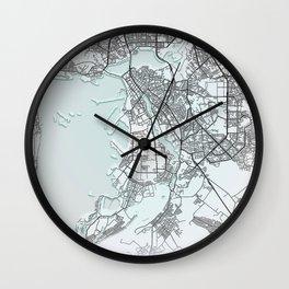 Kazan, Russia, White, City, Map Wall Clock