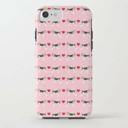 Wire Fox Terrier love hearts dog breed pure breed dog lover gifts iPhone Case