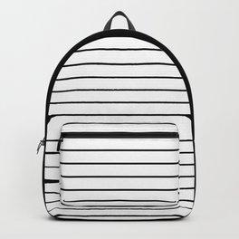 Striped Solid Black Backpack