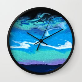 Flow-Blue Wall Clock