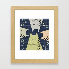 A few happy cats Framed Art Print