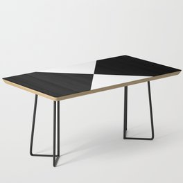 Black & White Triangles Coffee Table