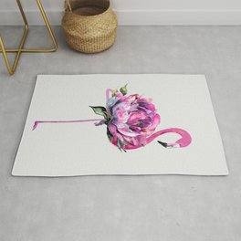 Flower Flamingo Rug