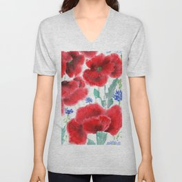 Flowers of the Cornfield Unisex V-Neck