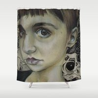 grimes Shower Curtains featuring Grimes: Be a Body by Shalehound