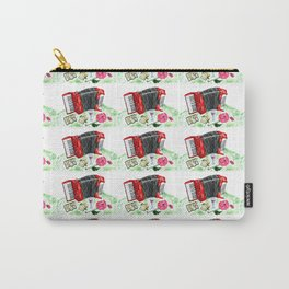 Retro red accordion Carry-All Pouch