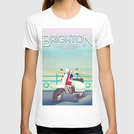 Brighton Union Scooter travel poster, T-shirt