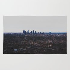 Los Angeles in fog Rug