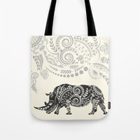 rhino Tote Bags featuring Rhino by famenxt