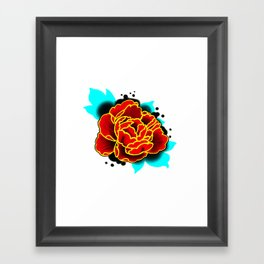 Red Peony  Framed Art Print