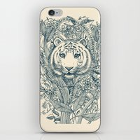 tiger iPhone & iPod Skins featuring Tiger Tangle by micklyn