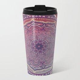 Pink and Blue Mandala Metal Travel Mug