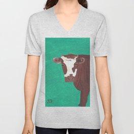 A Heifer Named Ice Cream Unisex V-Neck