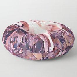 The Siberian Samoyed Floor Pillow