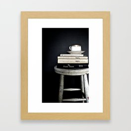 Books&Stool Framed Art Print