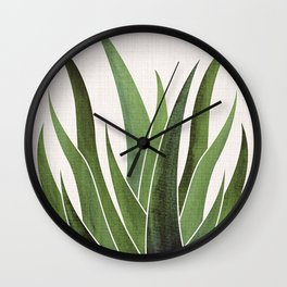 Vintage Agave / Desert Succulent Wall Clock