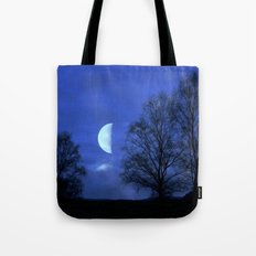 Moon between Trees  - JUSTART © Tote Bag
