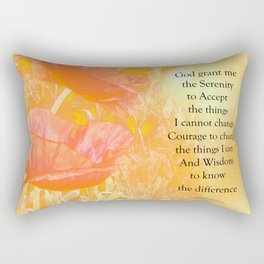 Serenity Prayer Orange Poppy Garden Glow Rectangular Pillow