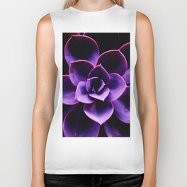 Ultraviolet Succulent Plant #decor #society6 #homedecor Biker Tank