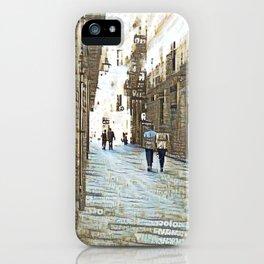 Barcelona digital street photography + Dreamscope iPhone Case