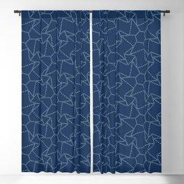 Star motif sashiko stitch pattern. Blackout Curtain