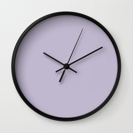 PPG Glidden Trending Colors of 2019 Wild Lilac Pastel Purple PPG1175-4 Solid Color Wall Clock