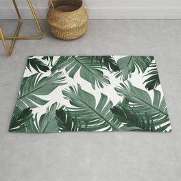 Tropical Banana Leaves Pattern #3 #tropical #decor #art #society6 Rug