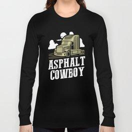 Asphalt Cowboy | Trucker Long Sleeve T-shirt