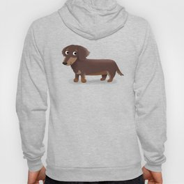 Longhaired Dachshund - Cute Dog Series Hoody