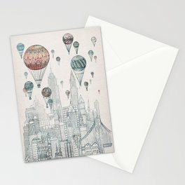 Voyages Over New York Stationery Cards