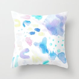 Pastel Watercolor Abstract Splatter Throw Pillow