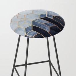 Soft Blue Hexagons Bar Stool