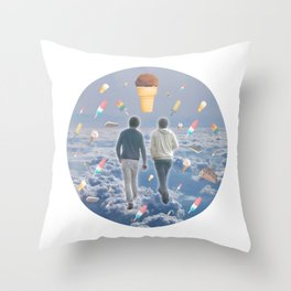 Bill & Nick's Ice Cream Adventure! Throw Pillow