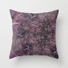 Cracked Amethyst Marble Throw Pillow