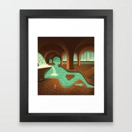 Secret Thermal Baths Framed Art Print