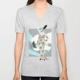 Art Deco 6 Unisex V-Neck