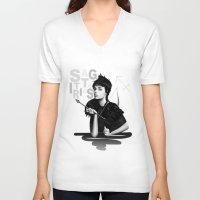 sagittarius V-neck T-shirts featuring Sagittarius by BeckiBoos