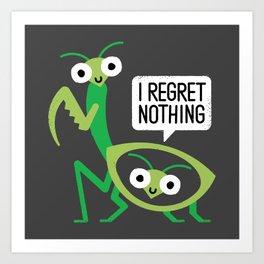 When a Mantis Loves a Woman Art Print