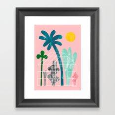 Collage Greenhouse Framed Art Print