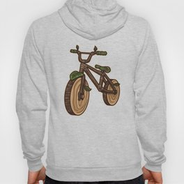 Nature Bicycle | Wooden Earth Day Illustration Hoody