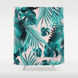 Tropical Jungle Leaves Dream #4 #tropical #decor #art #society6 Shower Curtain