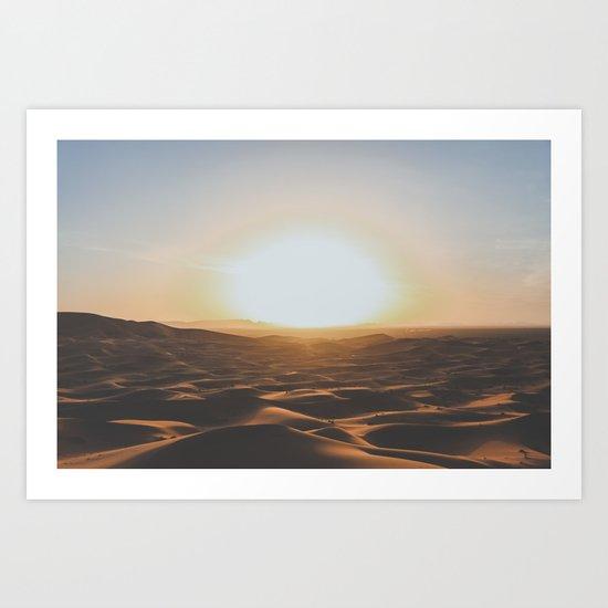 Merzouga, Morocco Art Print